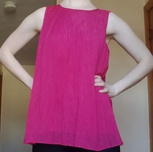 Shimmery sangria pink sleeveless blouse EUC